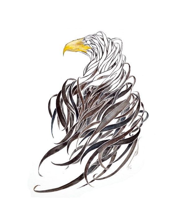 Eagle -giclee PRINT of my original watercolor -