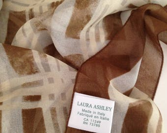 Vintage Laura Ashley plaid scarf