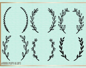 Floral Wreath SVG, Wreath SVG, Wreath Bundle SVG Cutting File, wood sign, Silhouette, Laurel Wreath svg, Wreath svg, Cricut files, wedding