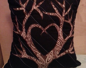 Tree Lovers Heart Tree Pillow