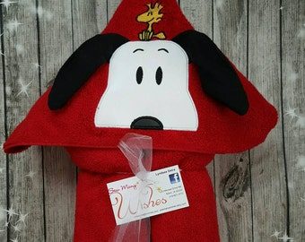 Snoopy Hooded Towel **free personalization**