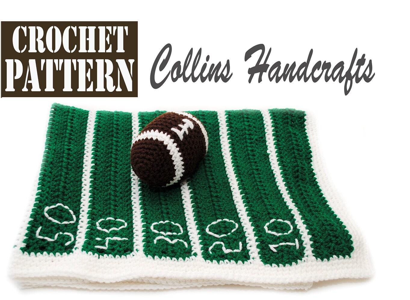 Pattern-Football Field Blanket w/Mini Toy Football -For a newborn ...