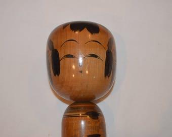 Smart Girl Kokeshi Doll, Japanese Wooden Doll - Made In Japan