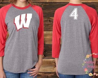 "Team Westshore Baseball Raglan - ""W"""