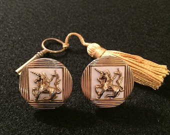Vintage Unicorn Cuff Links