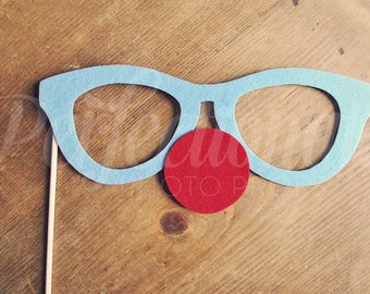 Big Clown Glasses Photo-Booth Prop | Carnival Photo Prop | Circus Photo Prop | Clown Glasses | Clown Prop | Clown Photo Prop