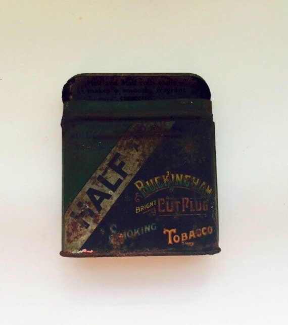Antique Buckingham Bright Cut Plug Smoking Tobacco Tin
