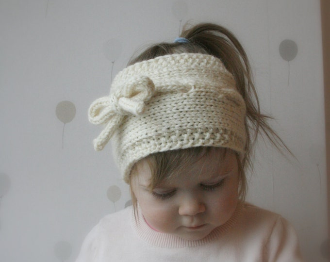 KNITTING PATTERN simple headband Lisa (toddler, child, adult sizes)