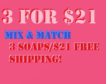 Buy 3 Mooseberry Soaps for the price of 2! Get FREE SHIPPING!!