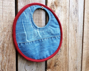 Reversible Pot pad trivet recycled denim