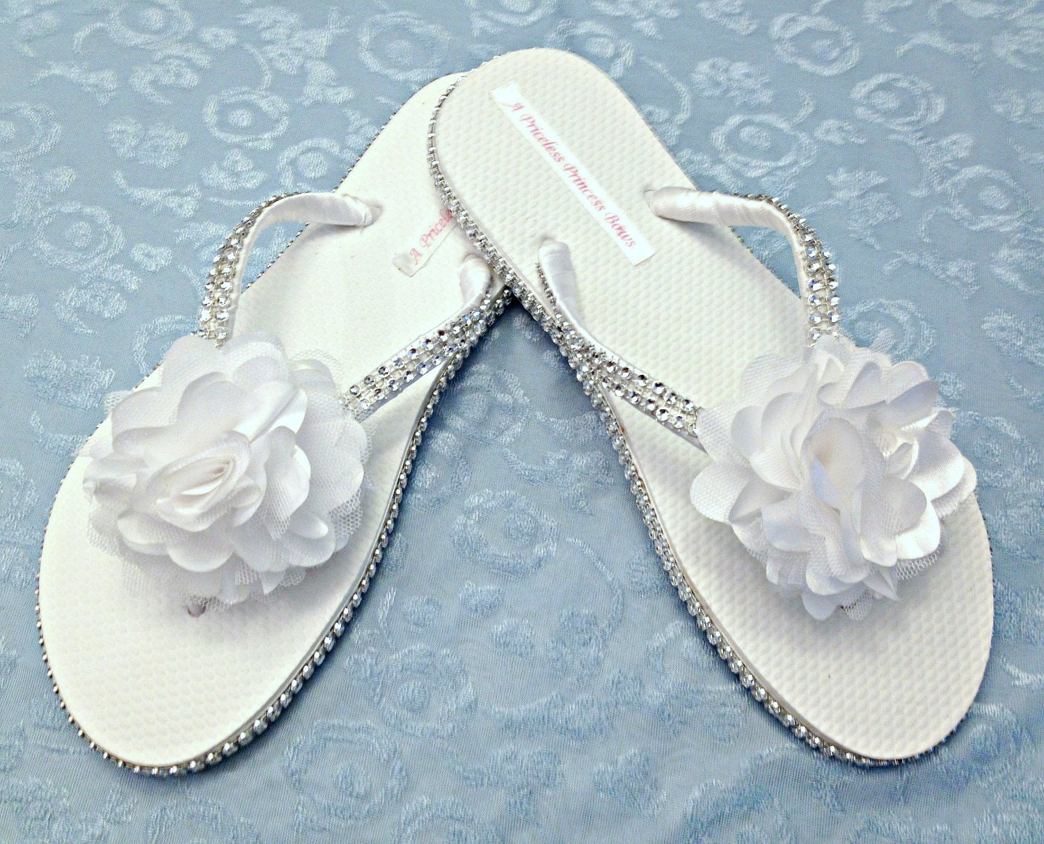 White Flip Flops With Flowers Image Collections Flower Decoration