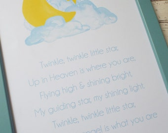 In Loving Memory, Angel Baby, Baby loss, Print, Angel baby gift, Baby loss print