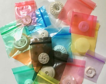 """Tiny 1 1/2"""" or 2"""" Ziplock Bags is Assorted Colors for Packaging and Storage"""