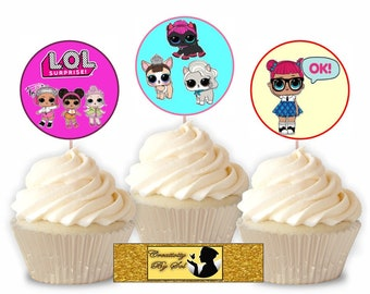 L.O.L CupCake Toppers