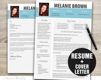 Resume Template Word / Cover Letter Template / Instant Download / Modern  Resume Design / CV