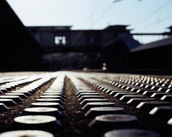 Early Morning on the Platform - Street/Urban Color Photography Print