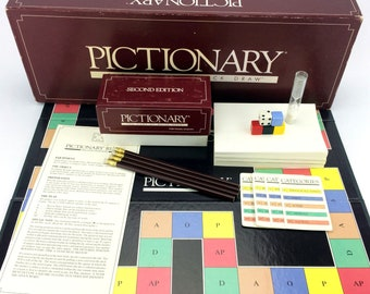 Pictionary Second Edition 1987 Board Game Of Quick Draw Vintage Classic Original