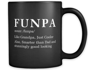 Funny grandpa gift, father's day grandpa Gift for Grandpa Mug, Funpa Mug, Gift from Grandchildren Gift, Grandpa to be Gift, Funpa #a351