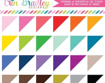 80% OFF SALE Corner Triangles Clipart Great to use as Planner Graphics Personal & Commercial Use OK