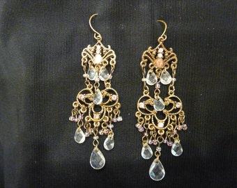 Beautiful VINTAGE DANGLE EARRINGS