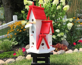 Large Birdhouse *Outdoor Bird House* Solid Wood, Handcrafted