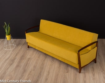 50s sofa, couch, 60s, vintage, mustard (605016)