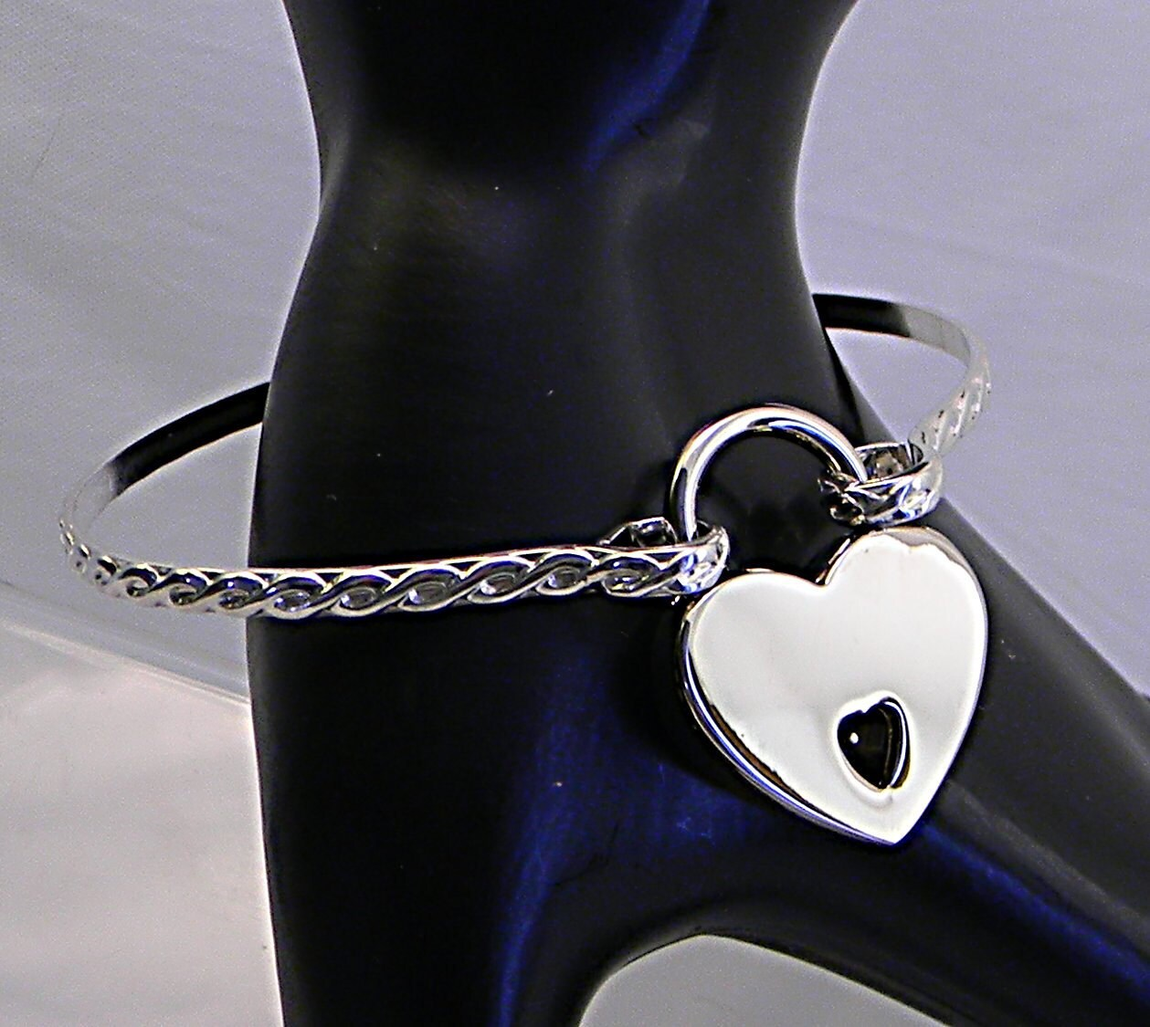 or motif anklet order made to twisted sterling locking il tied slave silver cuff fullxfull rope listing