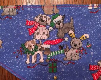 Dog Christmas bandana kerchief extra small, small, medium, large, extra large puppy