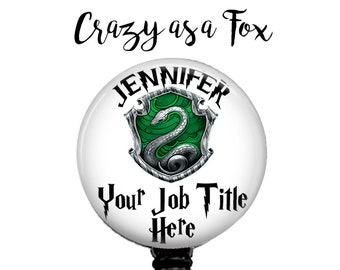 Personalized with your Name and Job Title Retractable Badge Holder,  Badge Reel, Lanyard, Stethoscope ID Tag, Nurse, Harry Potter inspired