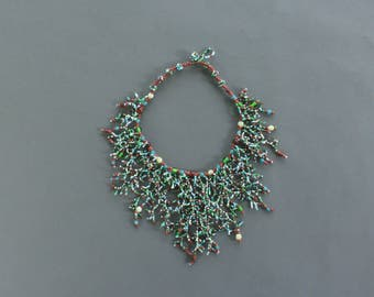 Ornate Beaded Vine Necklace