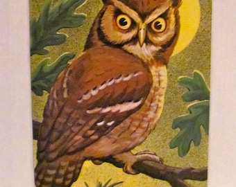 """Vintage Owl """"Own Natural World at Night"""" Poster"""