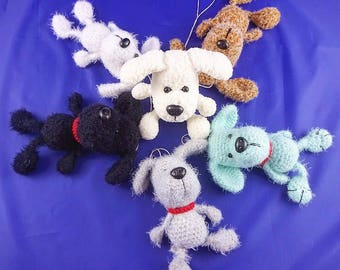 Plush amigurumi cute dog puppy toy