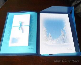 Papier à lettres réalisé à partir des  photos de paysages de montagne de Céline Photos Art Nature