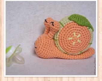 NEW! Plush Melon - Amigurumi snail - handmade