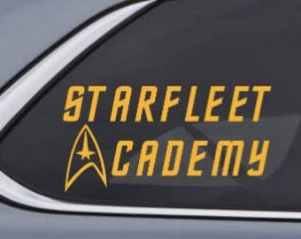 Starfleet Academy - Star Trek School or University Car Decal Sticker - Custom Vinyl Decal