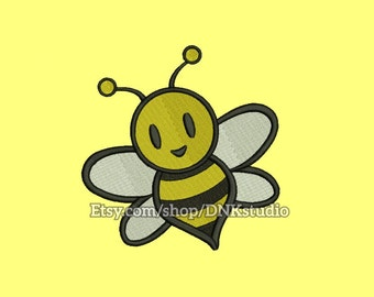 Cute Bee Embroidery Design - 5 Sizes - INSTANT DOWNLOAD