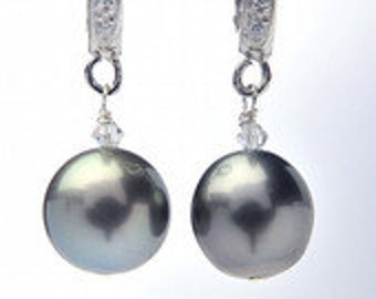 10-11mm Tahitian Pearl Earrings
