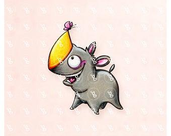 """Digi Stamp """"Unicorn Rhino"""""""