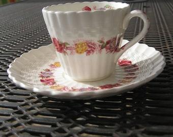 Copeland Spode Rosebriar Demitasse Cup and Saucer