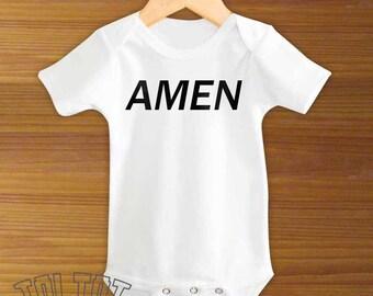 Bodysuit or Toddler Shirt, Amen, Baby Bodysuit, Baby Shower Gift, Girls, Boys