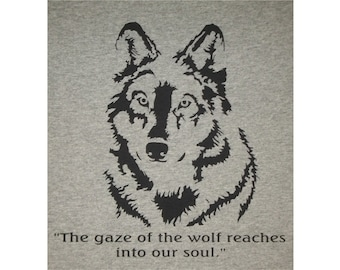 Gaze Into The Eyes Of A Wolf Soul T-Shirt BL Closeout