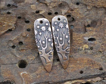 Tree of Life Shard, Copper Point shaped pair