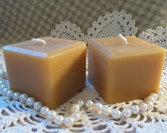 Beeswax Candle Square Cube-Shaped Candle Set/2