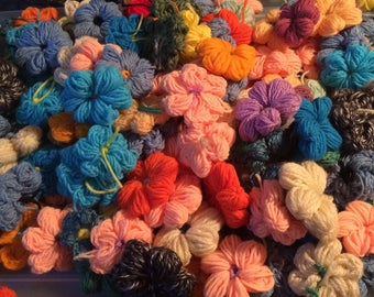 14 Handmade  Crochet Flowers (Randomly selected)