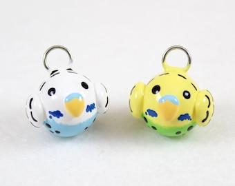 Cute Parakeet Charm - Polymer Clay Charm - Cute Budgie Charm - Parakeet Jewelry - Budgie Jewelry - Bird Charm - Cell Phone Charm
