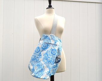Gym Bag Upright Duffle for hanging in narrow gym lockers - Made to Order in your fabric choice
