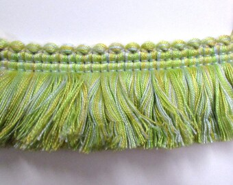 FRINGE in lime blue yellow 2 inch