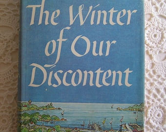 The Winter of Our Discontent by John Steinbeck, 1961, American Literary Classic Hardcover Novel Book