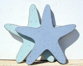 wood starfish nautical art