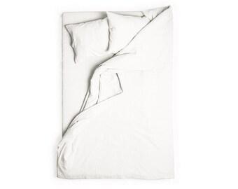 White linen duvet cover Queen bedding King duvet Full size duvet covers Natural washed linen bed linens
